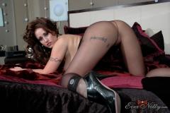 Eva Notty Huge Tits look Sexy in Black Minidress 085