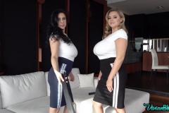 Ewa-Sonnet-and-Vivian-Blush-Four-Huge-tits-in-Tight-White-Tshirts-002