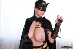 Ewa Sonnet as Huge Boob Halloween Cat 008