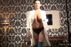 Ewa Sonnet Big Boobs and Blue Thigh High Boots 006