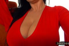 Ewa Sonnet Big Boobs in Red Minidress 003