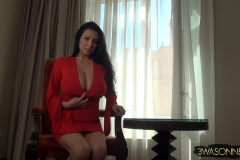 Ewa Sonnet Big Boobs in Red Minidress 005