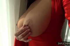 Ewa Sonnet Big Boobs in Red Minidress 008