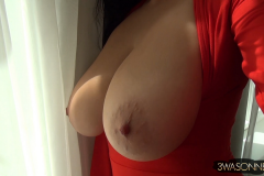 Ewa Sonnet Big Boobs in Red Minidress 011