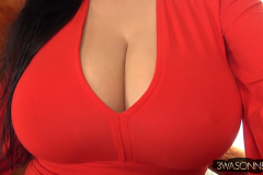 Ewa Sonnet Big Boobs in Red Minidress 012