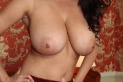 Ewa Sonnet Big Boobs Tight Red Dress 11