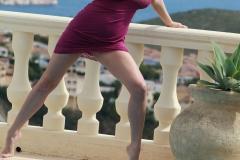 Ewa Sonnet Big Breasts Pink Lacy Dress 15