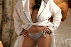 Ewa Sonnet Huge Boobs and a Towelling Robe 001