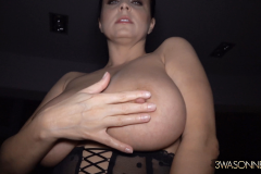 Ewa Sonnet Huge Boobs and Black Lacy Corset 001