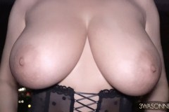 Ewa Sonnet Huge Boobs and Black Lacy Corset 010
