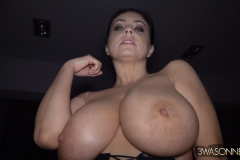 Ewa Sonnet Huge Boobs and Black Lacy Corset 011
