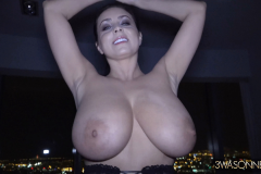 Ewa Sonnet Huge Boobs and Black Lacy Corset 013