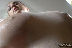 Ewa Sonnet Huge Boobs in a Seethrough Body 002