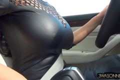 Ewa Sonnet Huge Boobs Tight Rubber Top 001