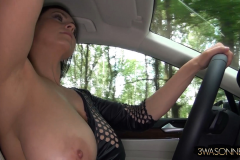 Ewa Sonnet Huge Boobs Tight Rubber Top 009