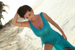 Ewa Sonnet Huge Breasts in Beachdress 006