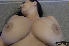 Ewa Sonnet Huge Breasts Naked Under a Crochet Top 015