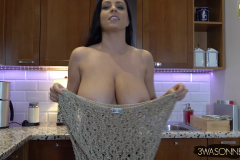 Ewa Sonnet Huge Breasts Naked Under a Crochet Top 010