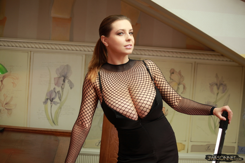 Ewa-Sonnet-Huge-Titis-in-Fishnet-Dress-009