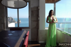 Ewa-Sonnet-Huge-Tits-Go-Solo-in-The-green-Dress-001