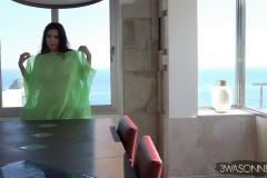 Ewa-Sonnet-Huge-Tits-Go-Solo-in-The-green-Dress-003