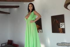 Ewa-Sonnet-Huge-Tits-Go-Solo-in-The-green-Dress-005