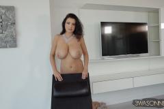 Ewa-Sonnet-Huge-Tits-in-Lacy-Dress-013