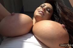 Ewa-Sonnet-Huge-Tits-in-Tight-Slinky-Nightie-002