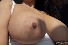 Ewa-Sonnet-Huge-Tits-in-Tight-Slinky-Nightie-004
