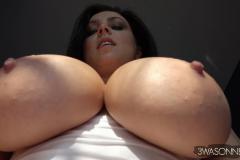 Ewa-Sonnet-Huge-Tits-in-Tight-Slinky-Nightie-005