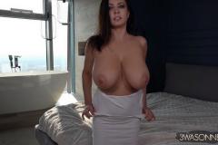 Ewa-Sonnet-Huge-Tits-in-Tight-Slinky-Nightie-011