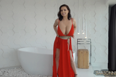 Ewa-Sonnet-Huge-Tits-in-Red-Genie-Dress-001