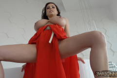 Ewa-Sonnet-Huge-Tits-in-Red-Genie-Dress-005