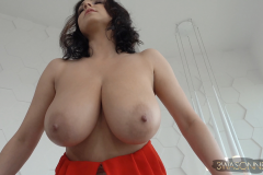 Ewa-Sonnet-Huge-Tits-in-Red-Genie-Dress-011