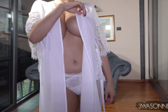 Ewa Sonnet Huge Tits in Silky Dressing Gown 001
