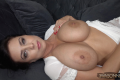 Ewa Sonnet Huge Tits in Silky Dressing Gown 013