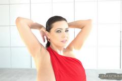 Ewa-Sonnet-Huge-Tits-in-Slinky-Red-Dress-003