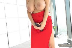 Ewa-Sonnet-Huge-Tits-in-Slinky-Red-Dress-007