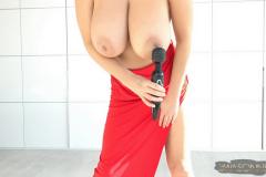 Ewa-Sonnet-Huge-Tits-in-Slinky-Red-Dress-010