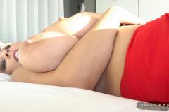 Ewa-Sonnet-Huge-Tits-in-Slinky-Red-Dress-011