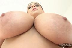 Ewa-Sonnet-Huge-Tits-in-Slinky-Red-Dress-014
