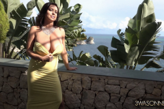 Ewa-Sonnet-Huge-Tits-in-Very-Tight-Yellow-Dress-003
