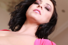 Ewa-Sonnet-Huge-Tits-Look-Fantastic-in-Pink-Dress-013