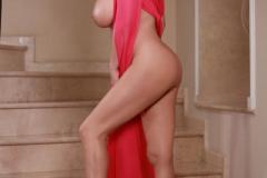 Ewa-Sonnet-Huge-Tits-Look-Fantastic-in-Pink-Dress-016