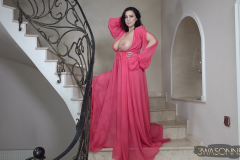 Ewa-Sonnet-Huge-Tits-Look-Fantastic-in-Pink-Dress-021