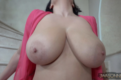 Ewa-Sonnet-Huge-Tits-Look-Fantastic-in-Pink-Dress-030