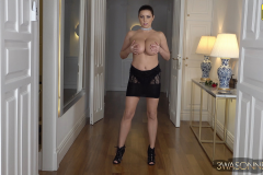 Ewa Sonnet Naked Huge Tits in Seethrough Lacy Dress 021