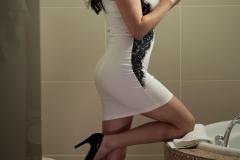 Ewa Sonnet tits tight in white dress 001