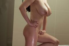 Ewa Sonnet tits tight in white dress 011