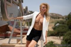 Fabiana-Big-Tit-Blonde-in-Tight-White-Jacket-for-Photodromm-002